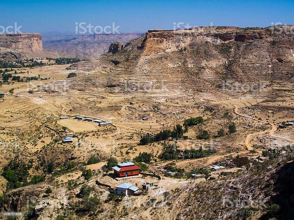 Debre Damo View stock photo