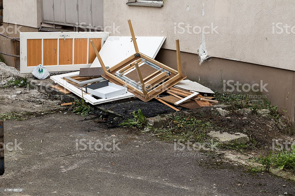 Debris in a construction site royalty-free stock photo