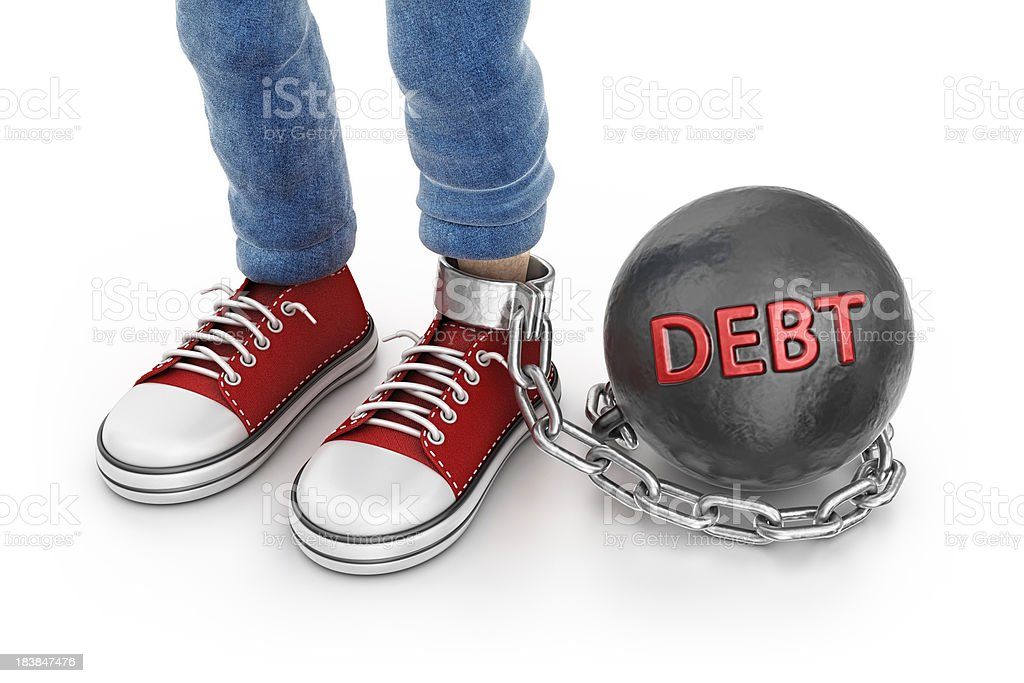 debt chain ball royalty-free stock photo