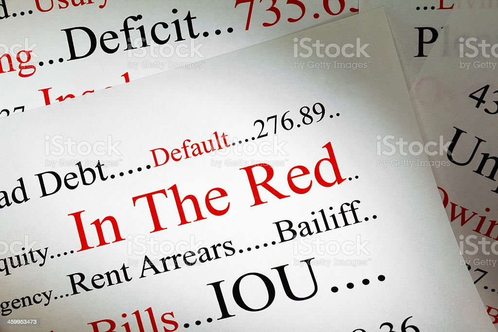 Debt Concept stock photo