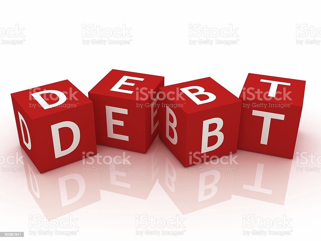 Debt Concept royalty-free stock photo