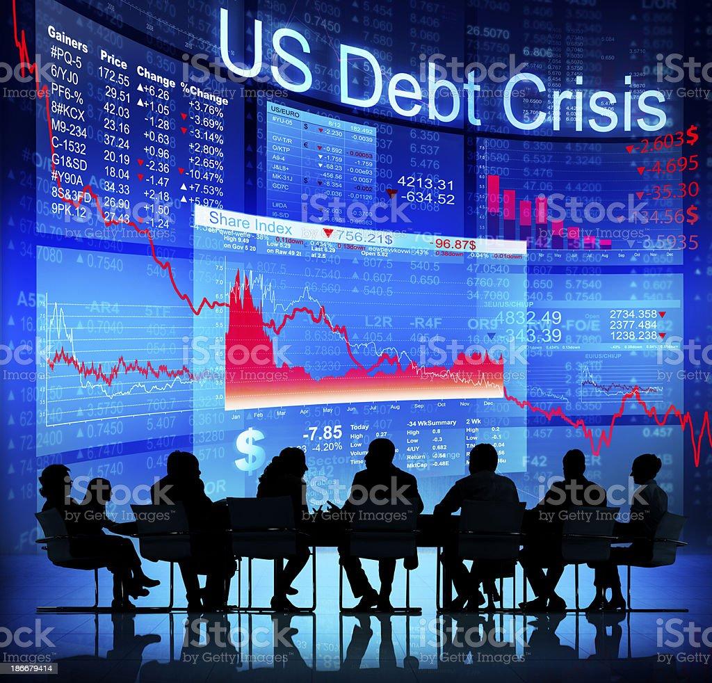 US Debt Crisis royalty-free stock photo