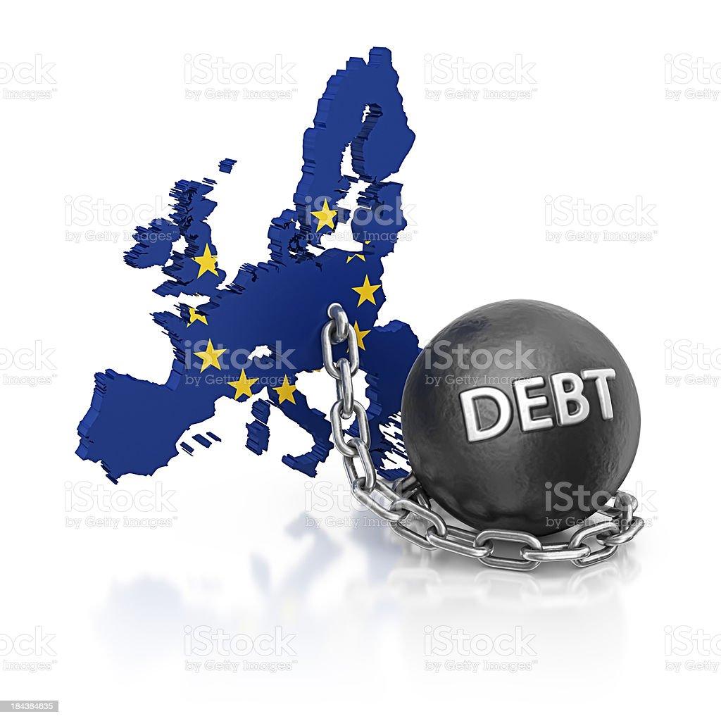 debt EU royalty-free stock photo