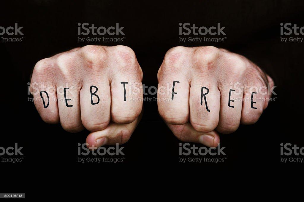 Debt Free royalty-free stock photo