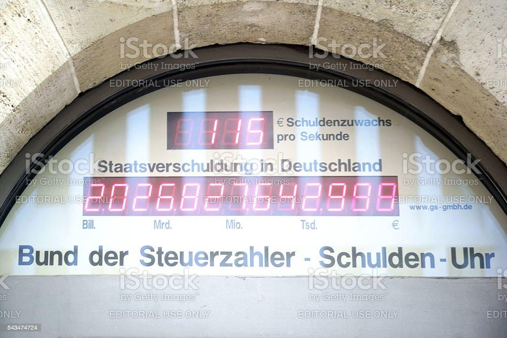 Debt Germany stock photo