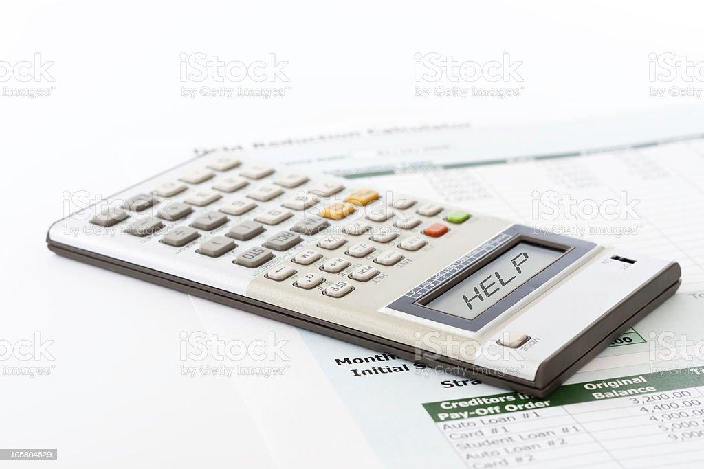 Debt Help royalty-free stock photo