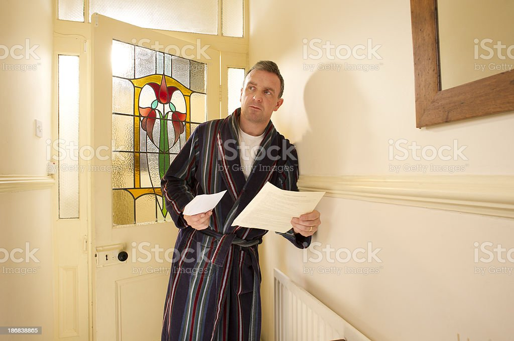 debt letter royalty-free stock photo