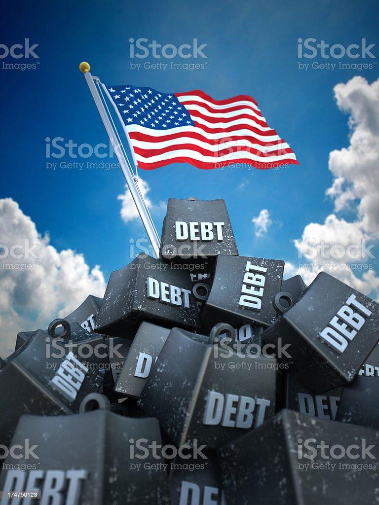 USA debt load royalty-free stock photo