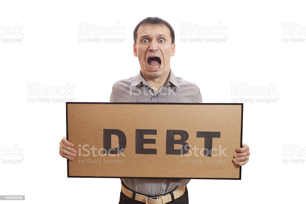 Debt. royalty-free stock photo