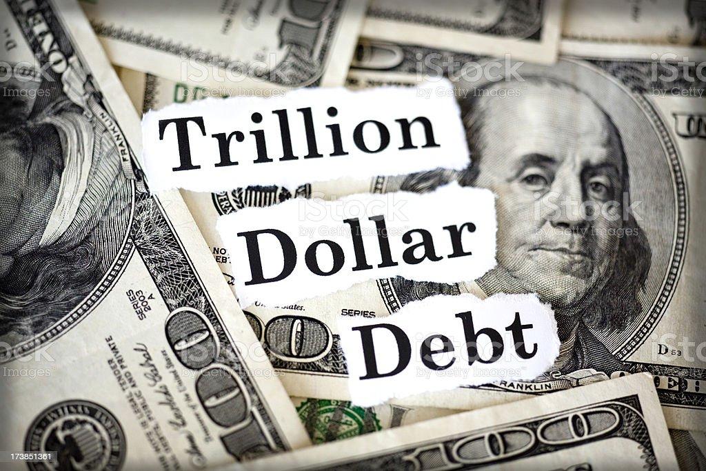 debt stock photo