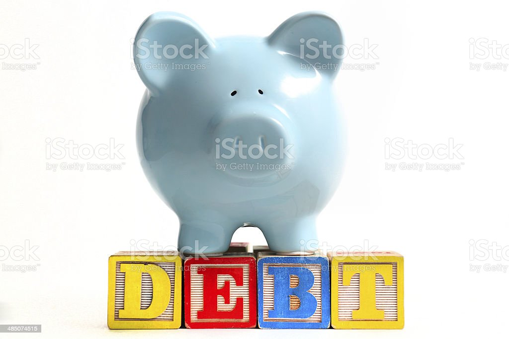 Debt stock photo