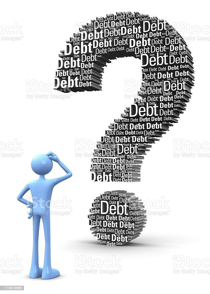 Debt problem royalty-free stock photo