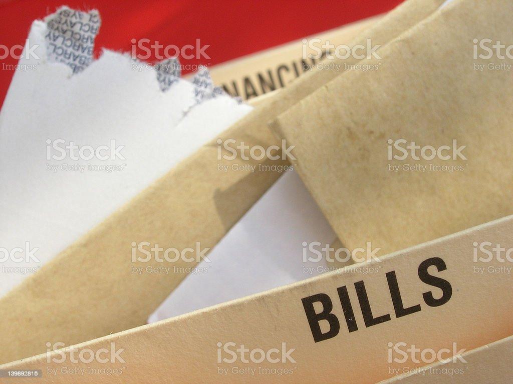 Debt problems. royalty-free stock photo