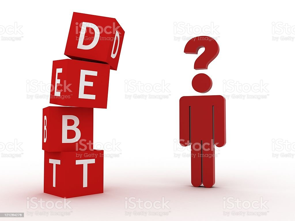 Debt Question royalty-free stock photo