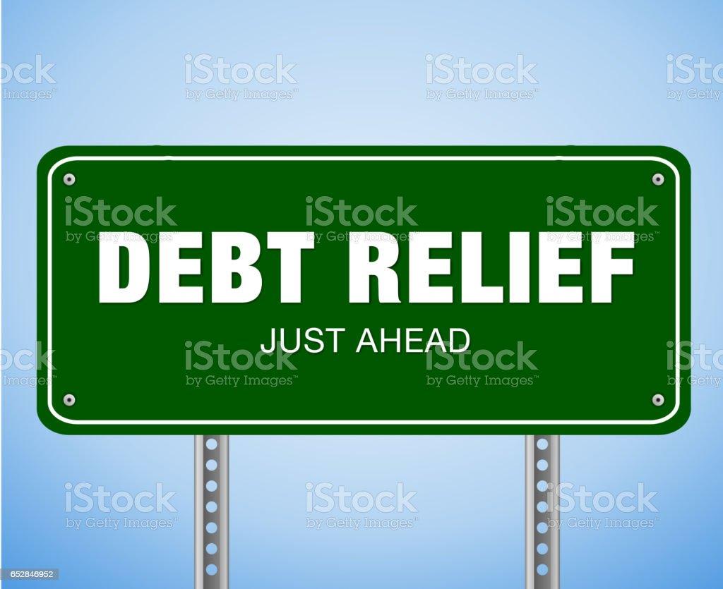 Debt Relief Just Ahead stock photo