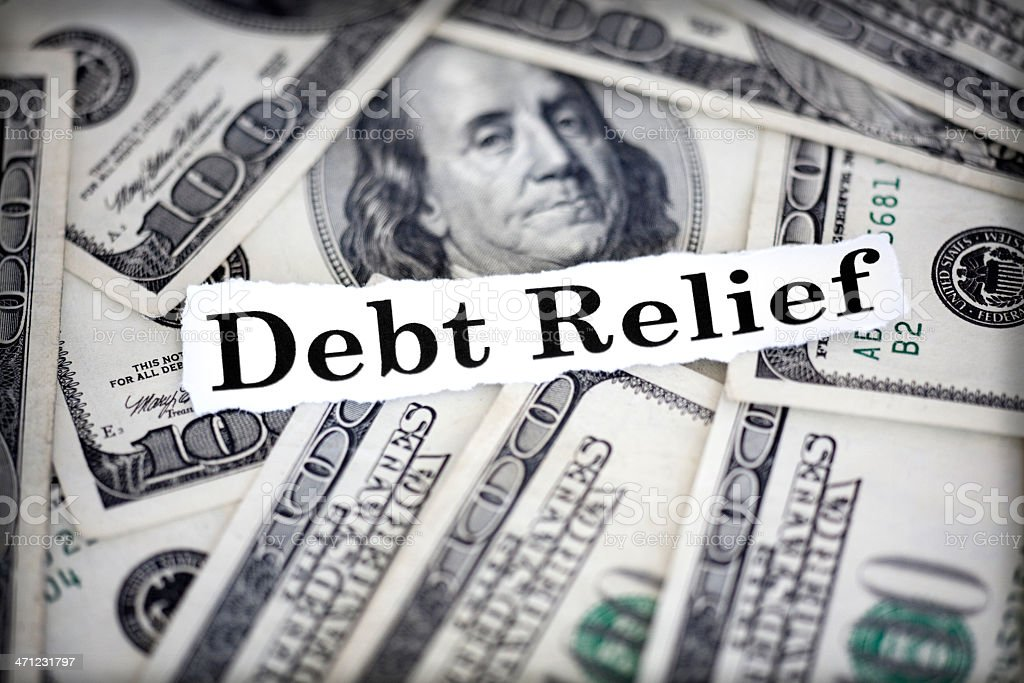 debt relief royalty-free stock photo