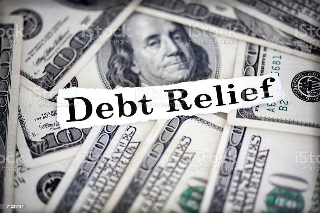 debt relief stock photo