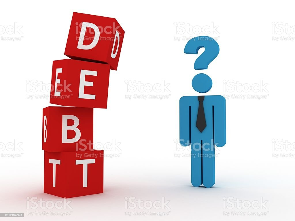 Debt Risk royalty-free stock photo