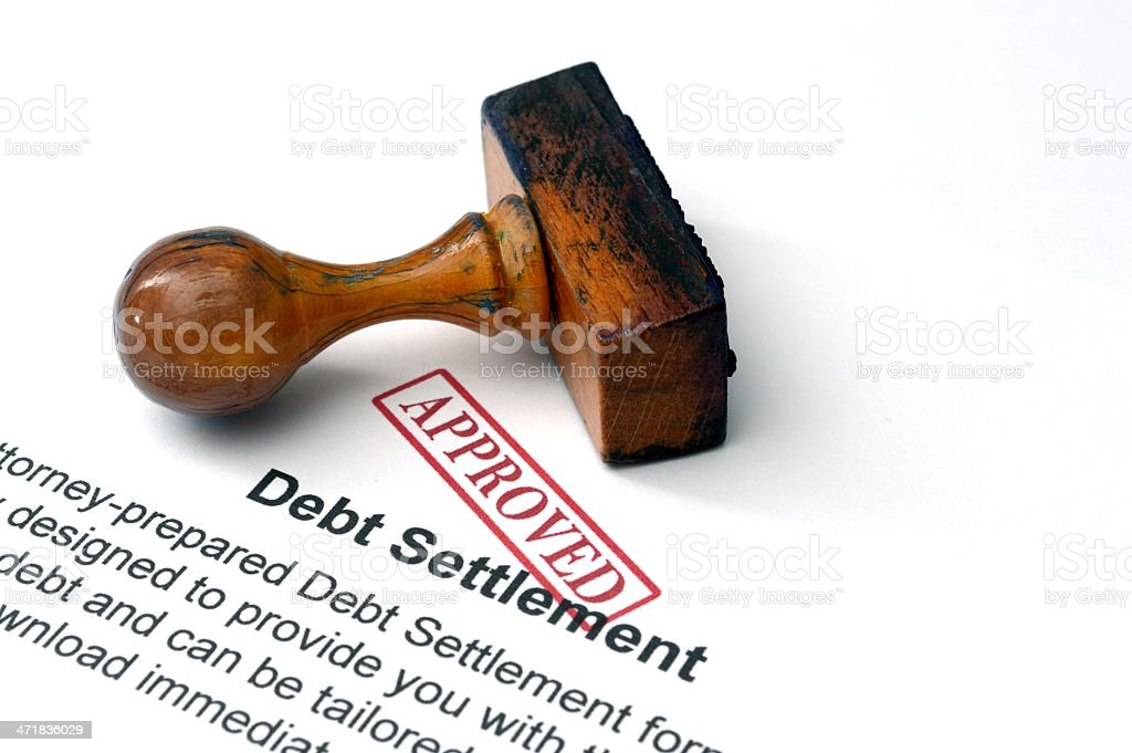 Debt settlement stock photo