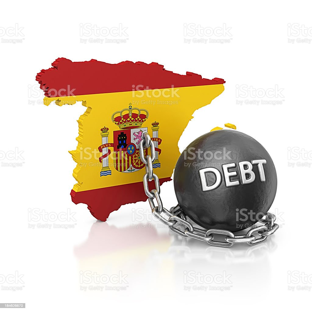 debt spain royalty-free stock photo