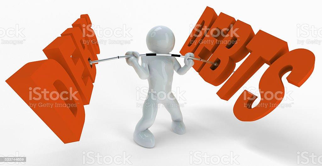 Debts stock photo