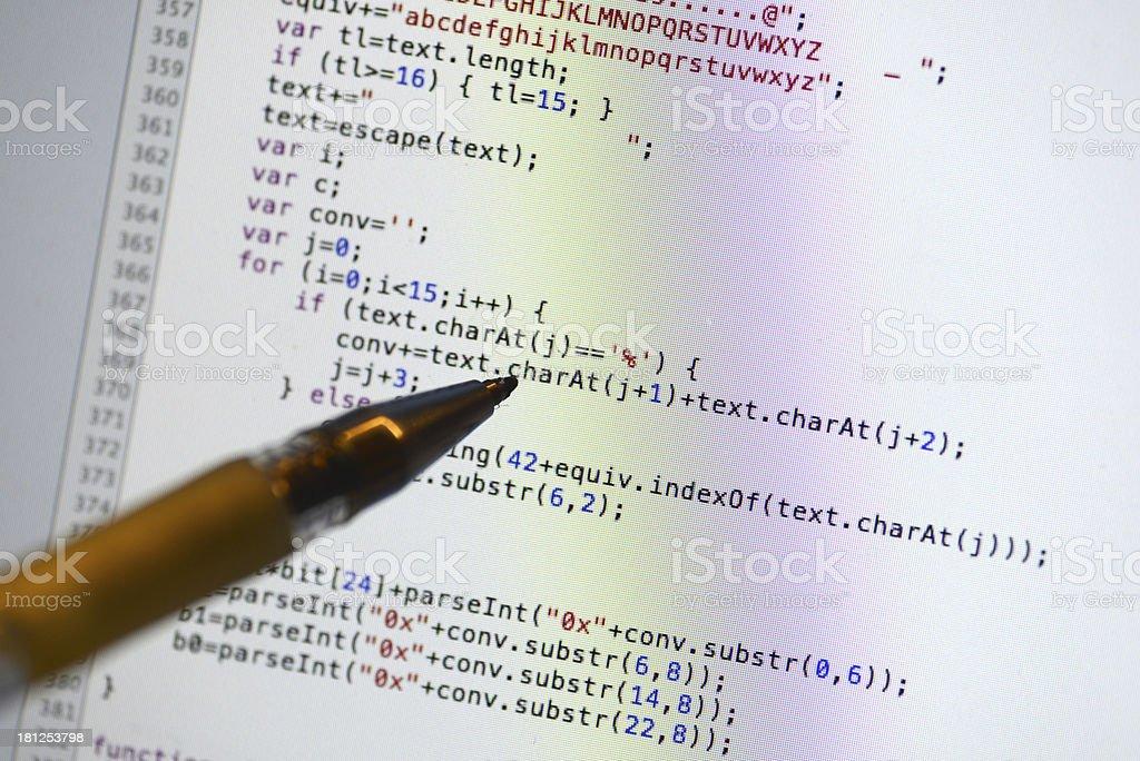 Debugging Javascript Code royalty-free stock photo