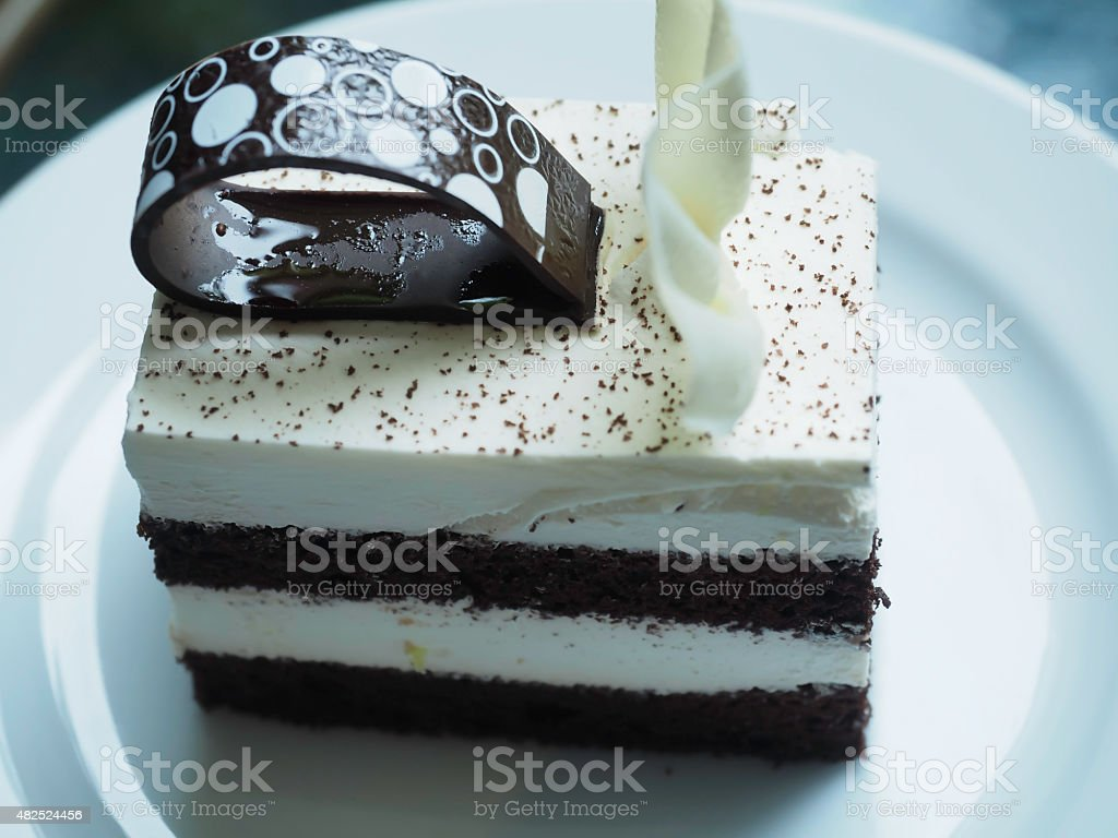 Decadent Dark Chocolate Cake stock photo