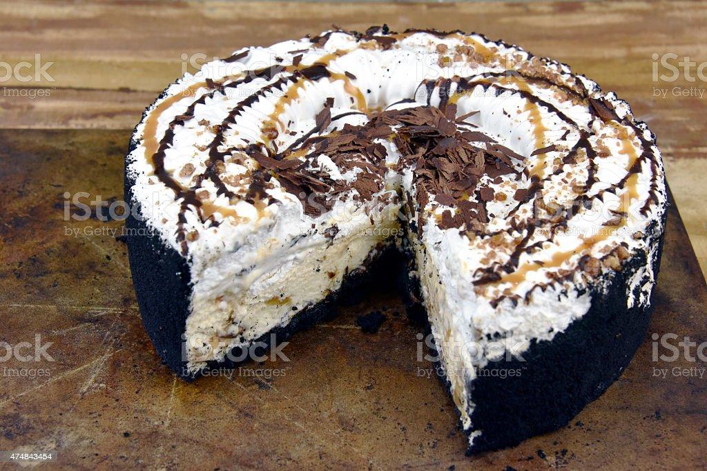 Decadent Ice Cream Cake royalty-free stock photo