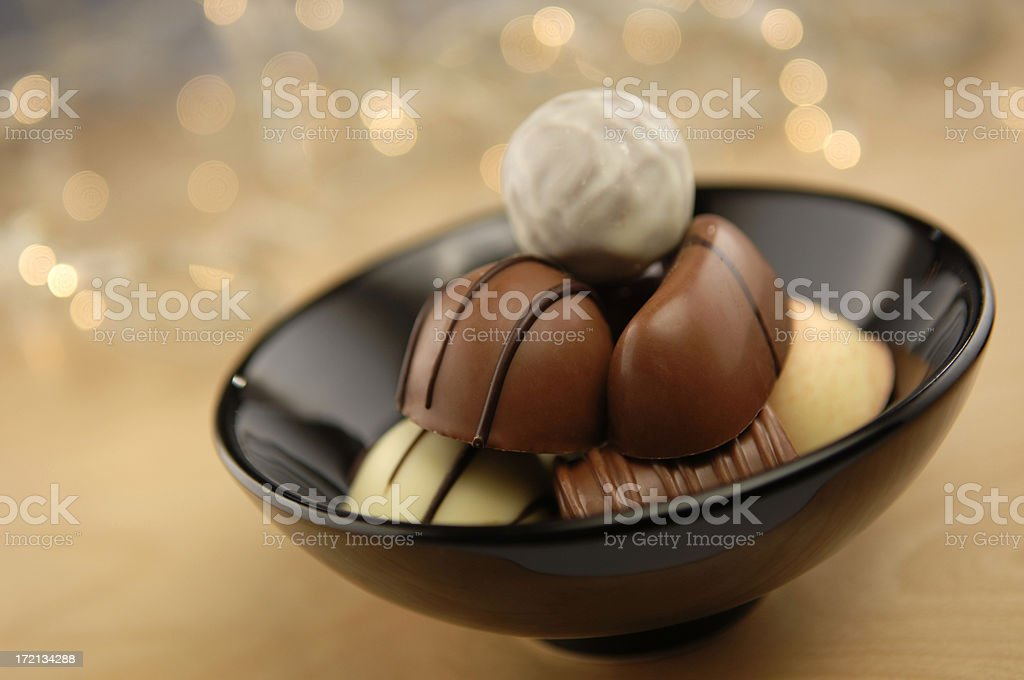 Decadent mixture of chocolates. royalty-free stock photo