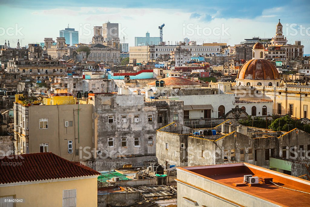 Decadent Skyline of Havana stock photo