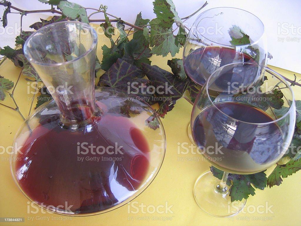 decanter of wine stock photo
