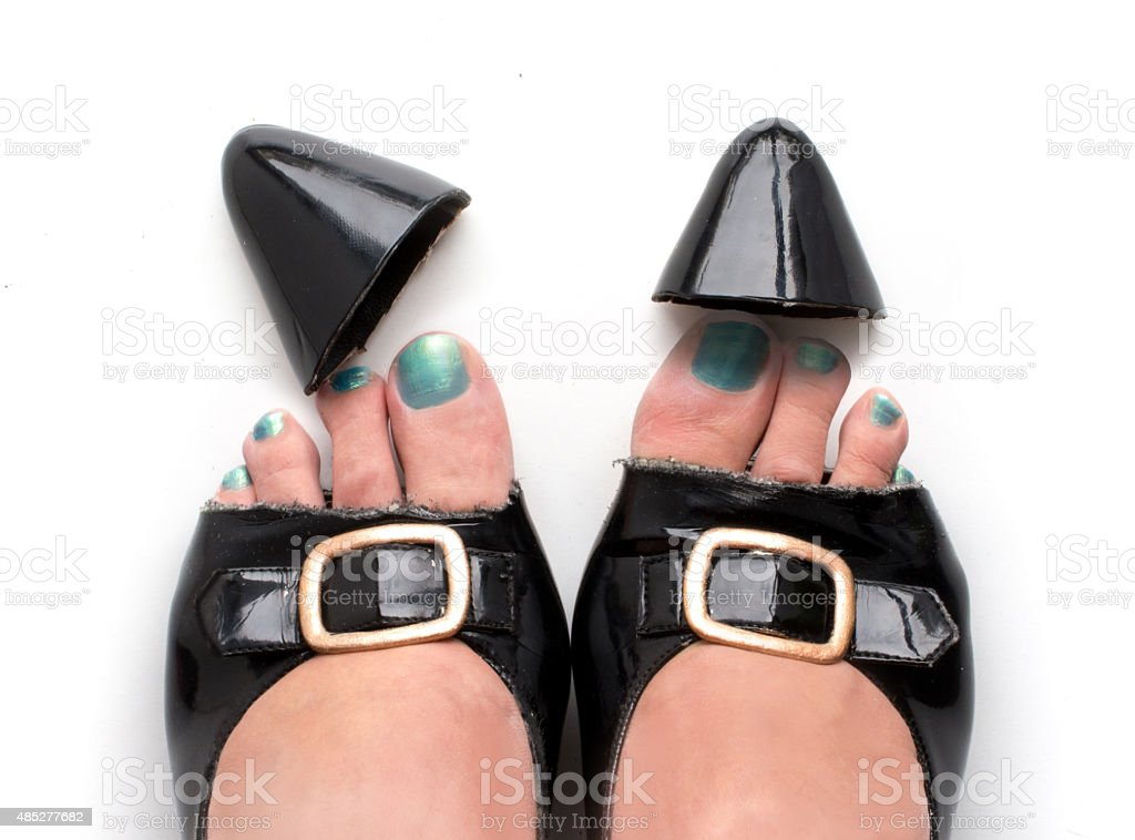 Decapitated pumps Real Peeptoes stock photo