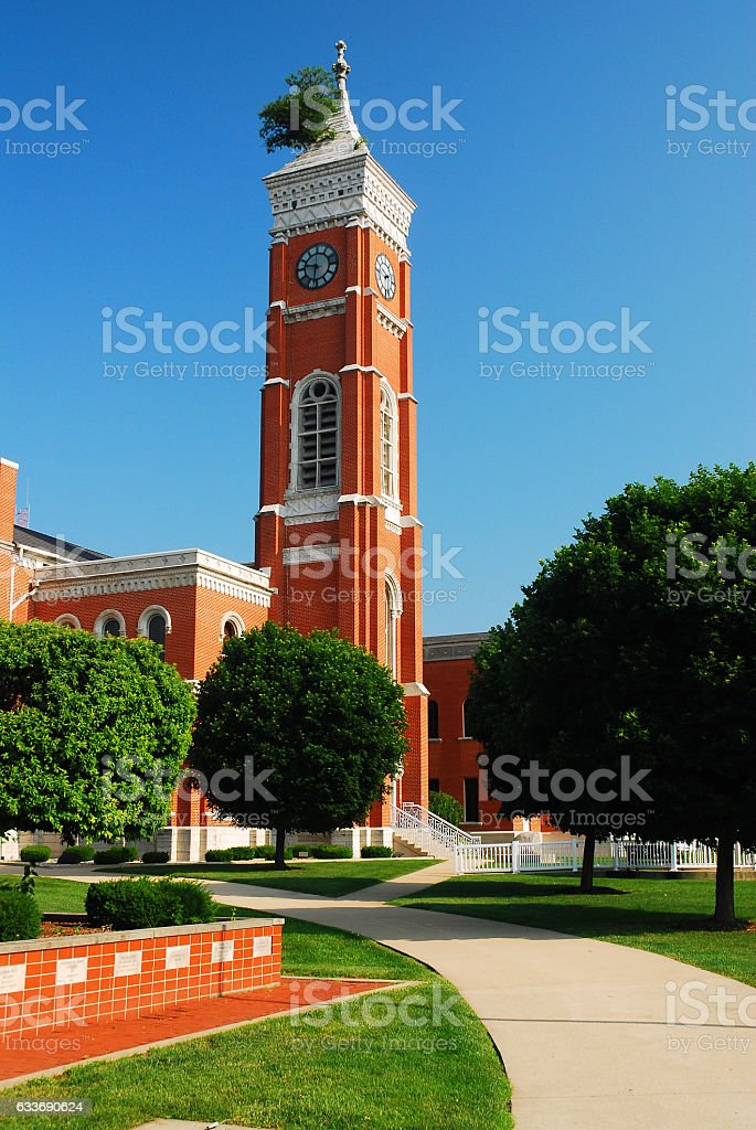 Decatur County Courthouse and Famous Tree stock photo