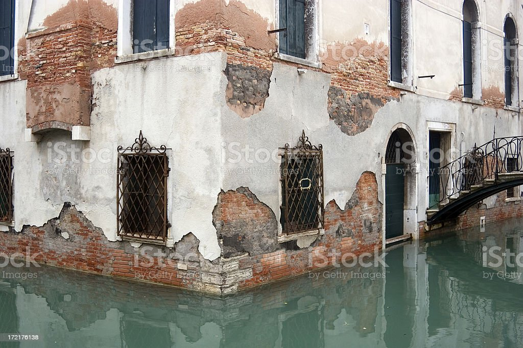 Decay in Venice royalty-free stock photo
