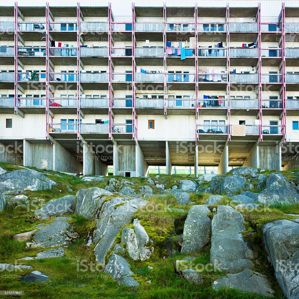 Decay Inuit Metropolis Nuuk Greenland Series I royalty-free stock photo