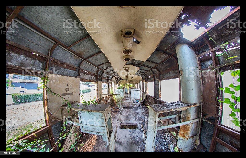 Decay Train stock photo