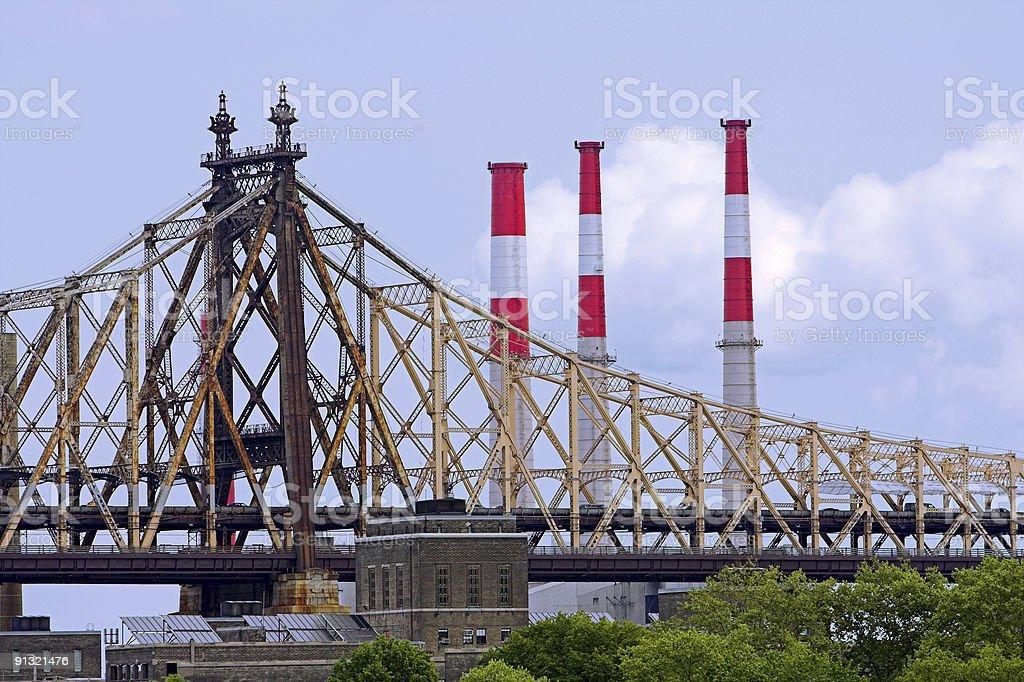 Decayed bridge royalty-free stock photo