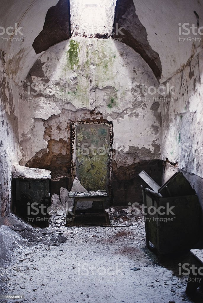 Decayed Prison Cell stock photo