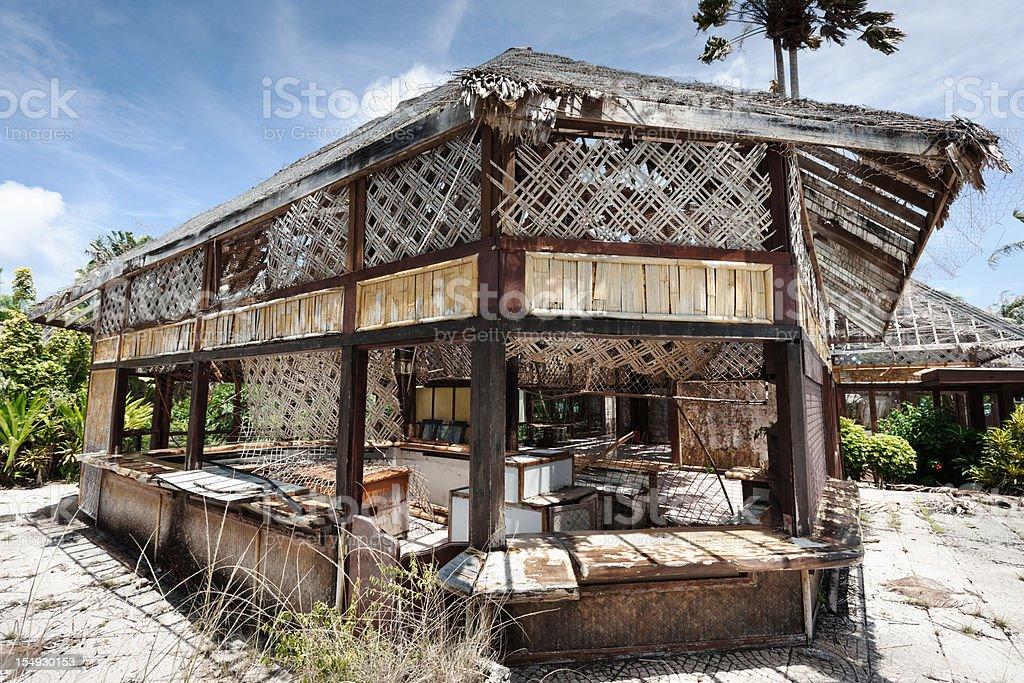 Decaying Abandoned Tourist Resort Bar Series III royalty-free stock photo