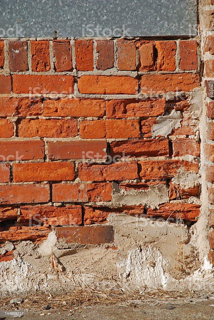 decaying brick wall royalty-free stock photo