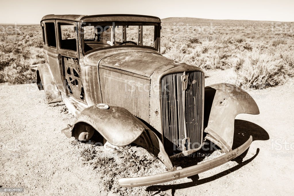 Decaying Car stock photo