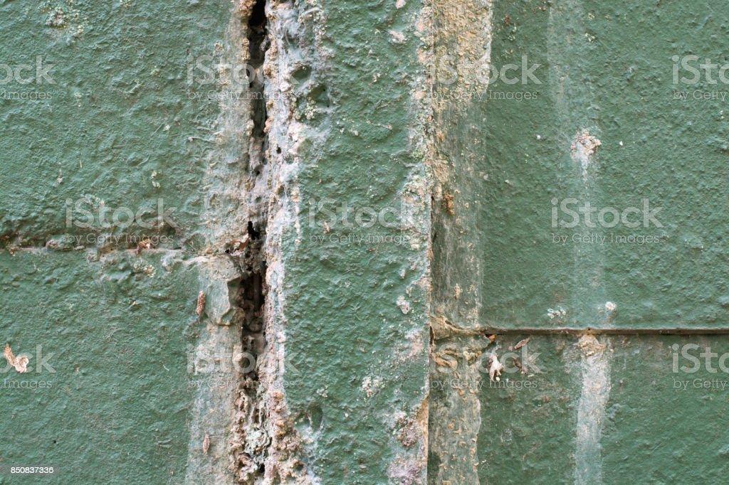Decaying Concrete Wall Pillar stock photo