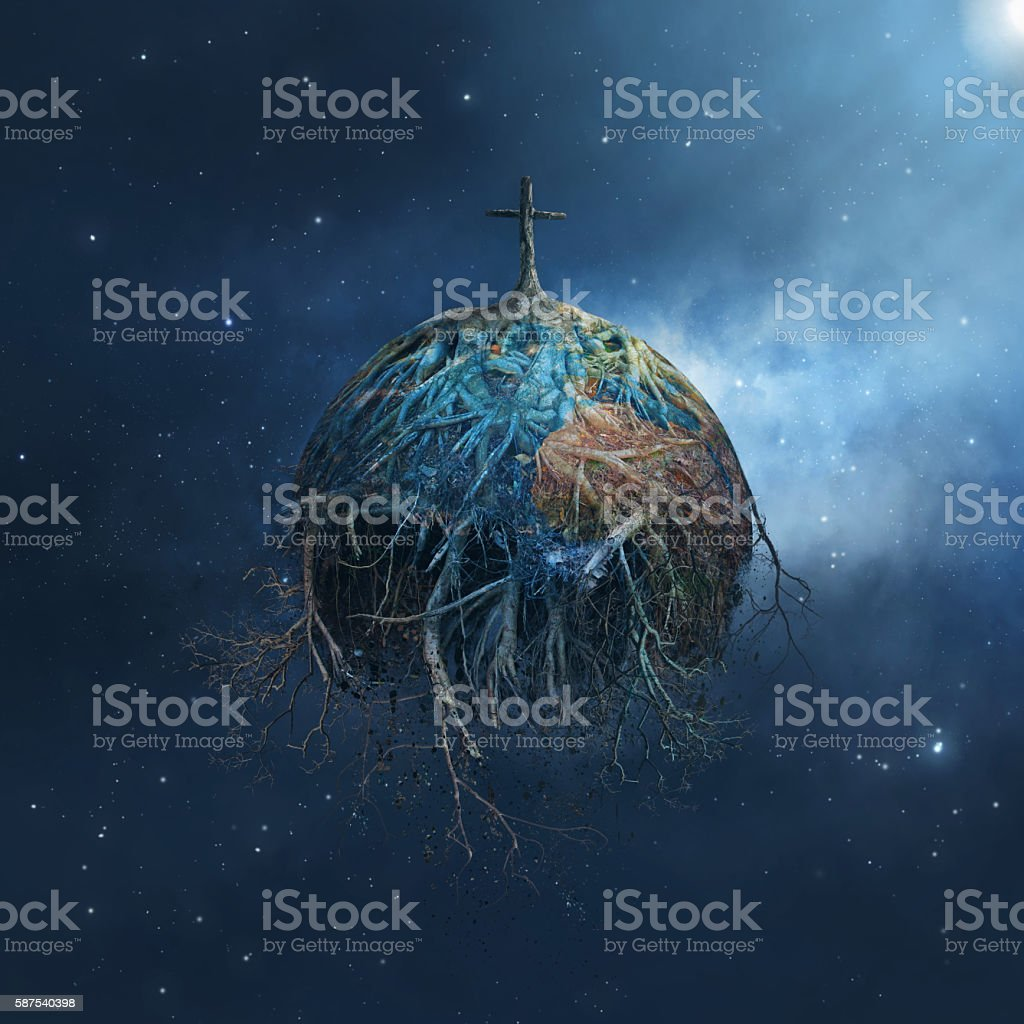 Decaying Earth stock photo