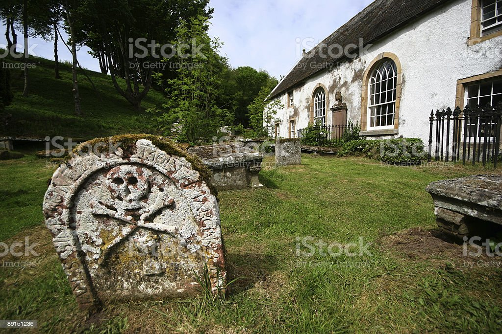 Decaying Graveyard royalty-free stock photo