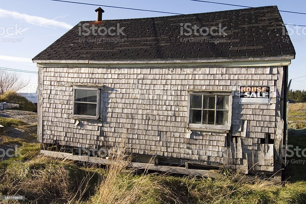 decaying house for sale royalty-free stock photo