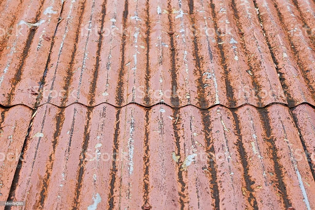 Decaying Metal Roof royalty-free stock photo