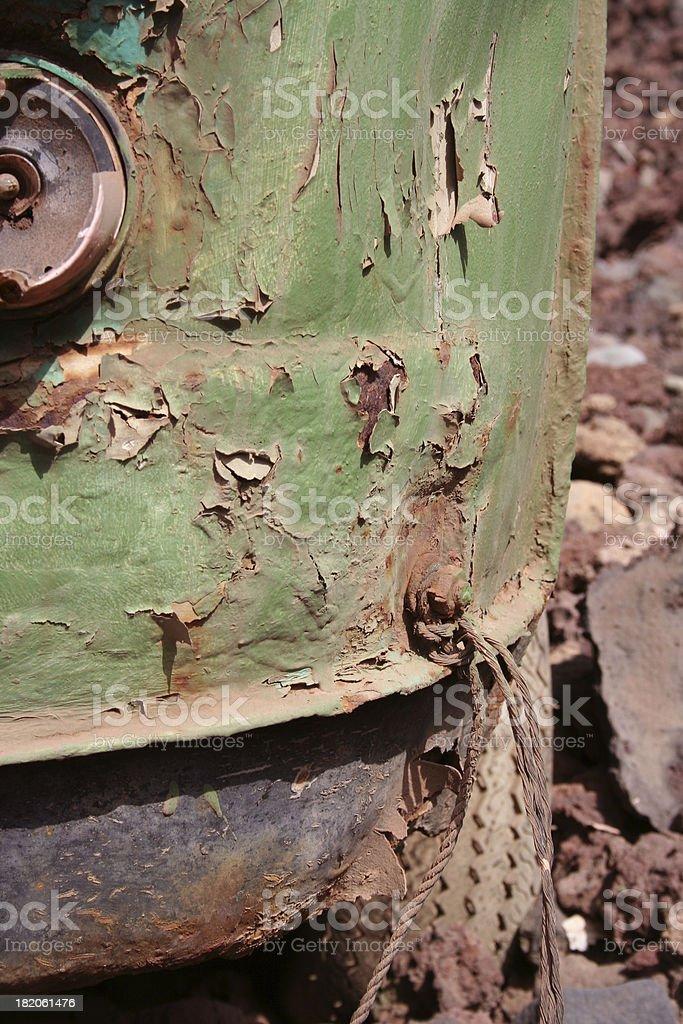 decaying van royalty-free stock photo