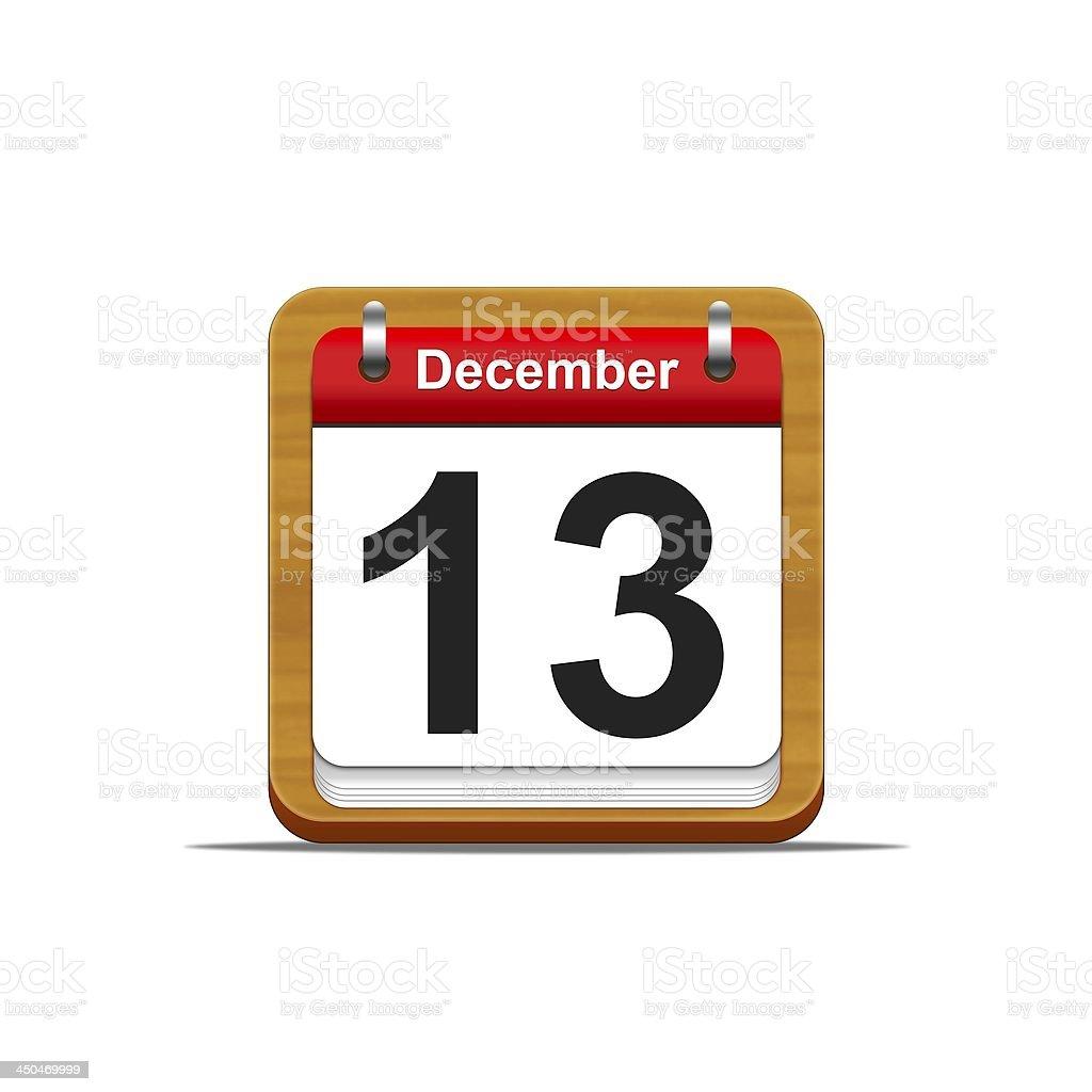 December 13. royalty-free stock photo