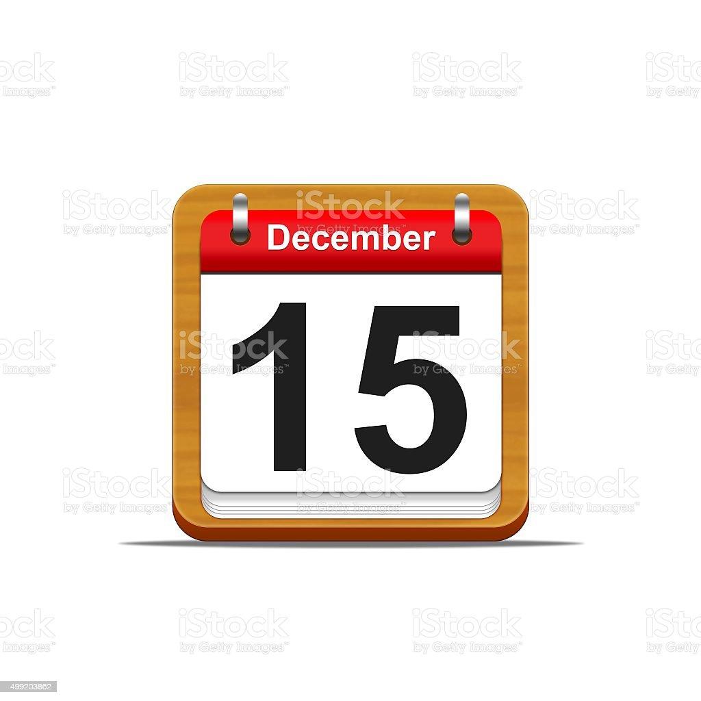 December 15. stock photo