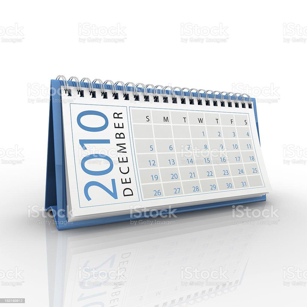 December 2010 calendar royalty-free stock photo